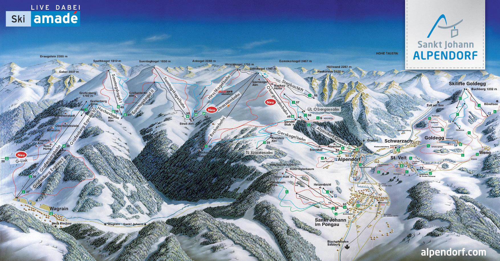 Pistenplan Skigebiet Alpendorf